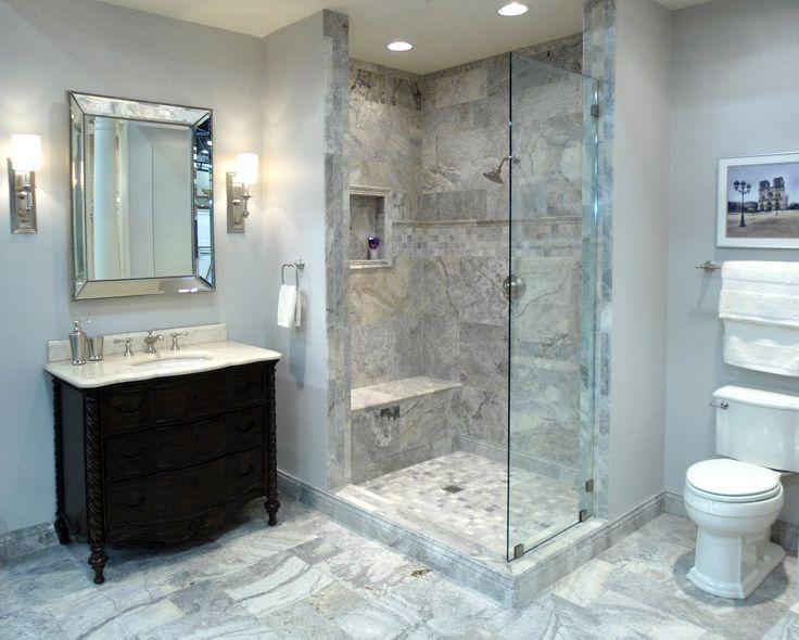 Silver Travertine Bathroom Ideas