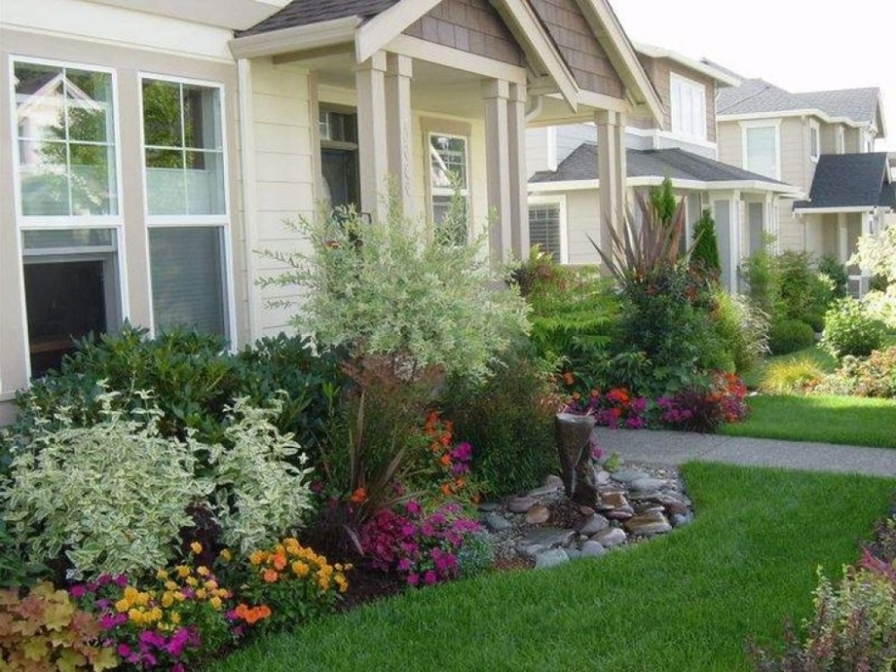 Simple Landscape Design For Front Of House