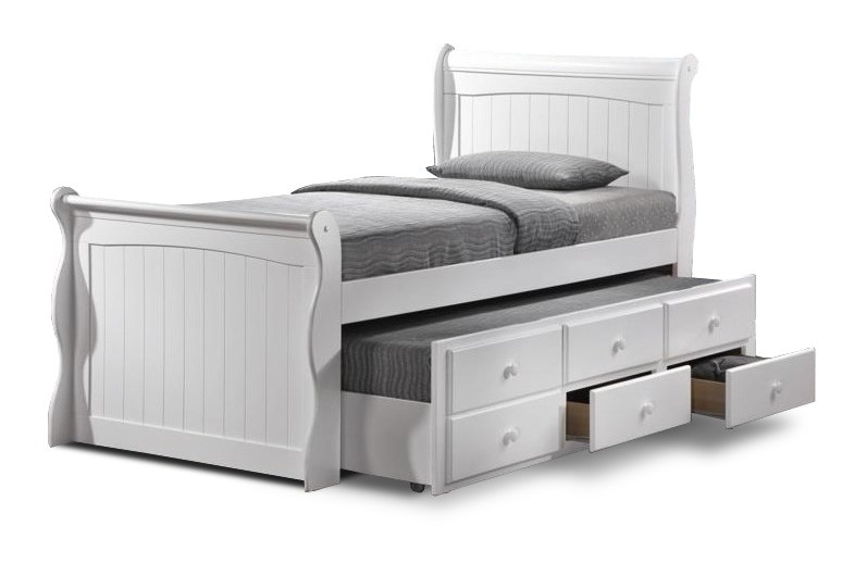 Single White Bed Frame With Storage