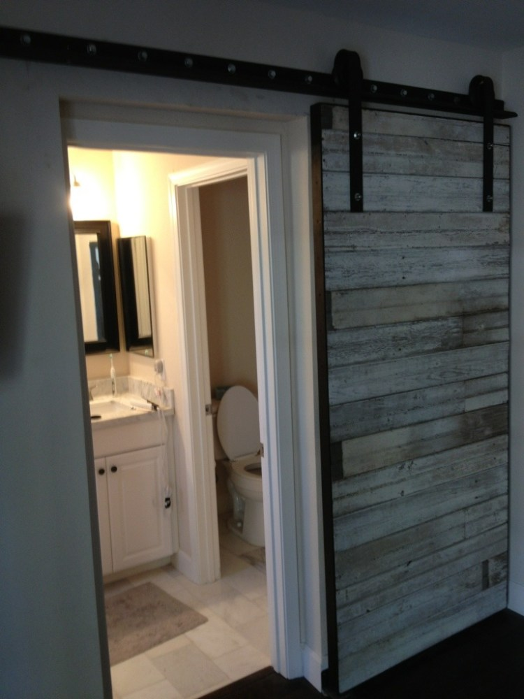 Sliding Bathroom Door Ideas