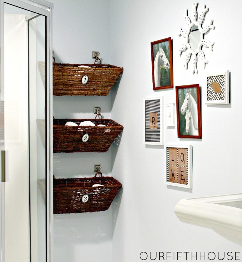 Small Bathroom Shelves Ideas