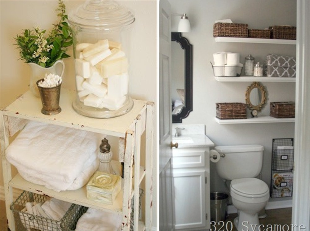 Small Bathroom Storage Ideas Over Toilet