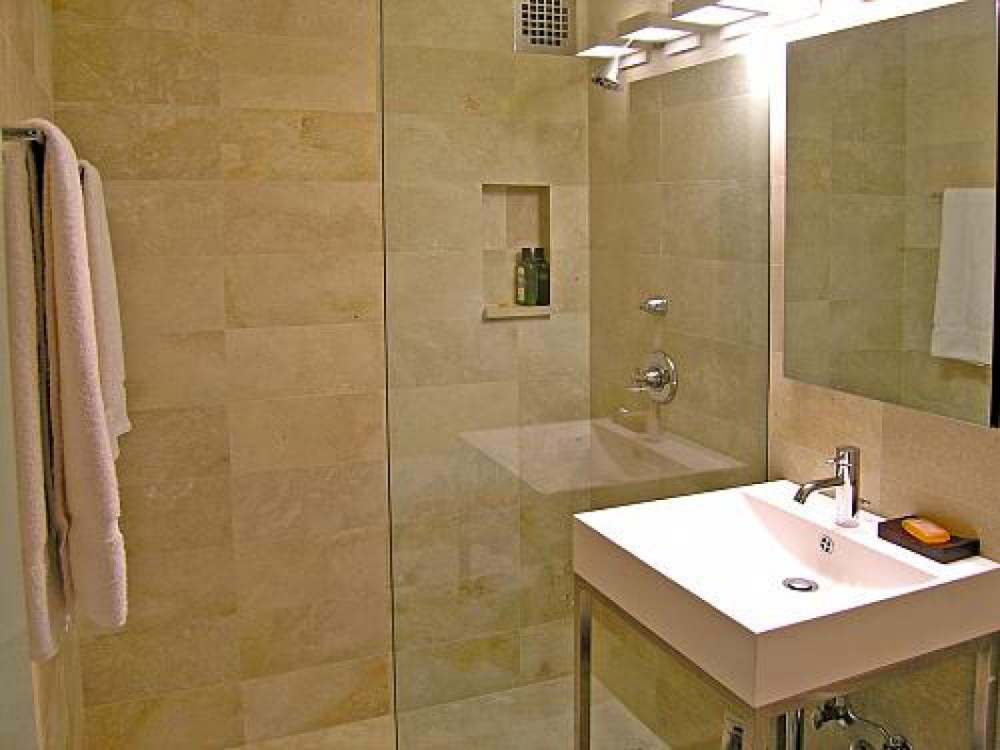 Small Beige Bathroom Ideas