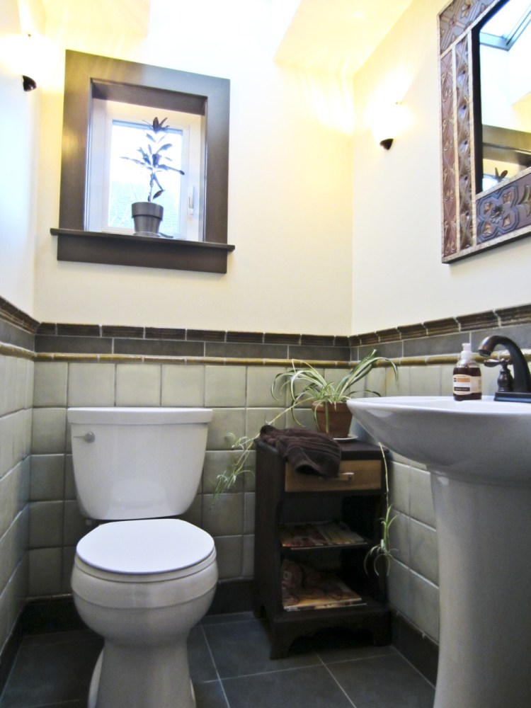 Small Half Bathroom Tile Ideas