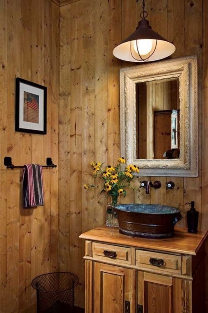 Small Rustic Bathroom Ideas Pinterest