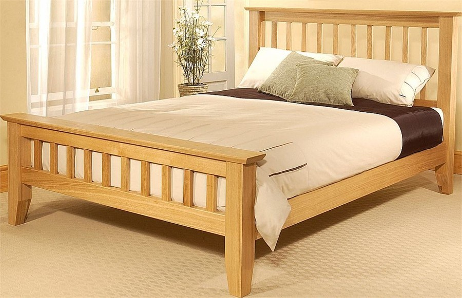Solid Bed Frame Double