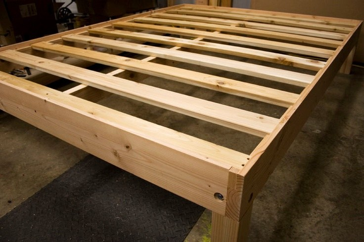 Solid Bed Frame Full