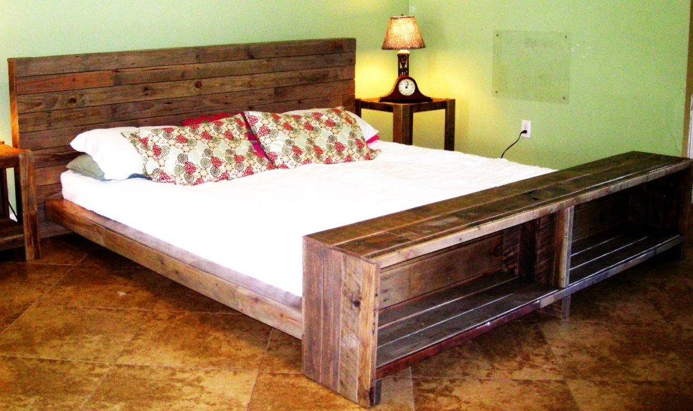 Solid Wood Bed Frame Full