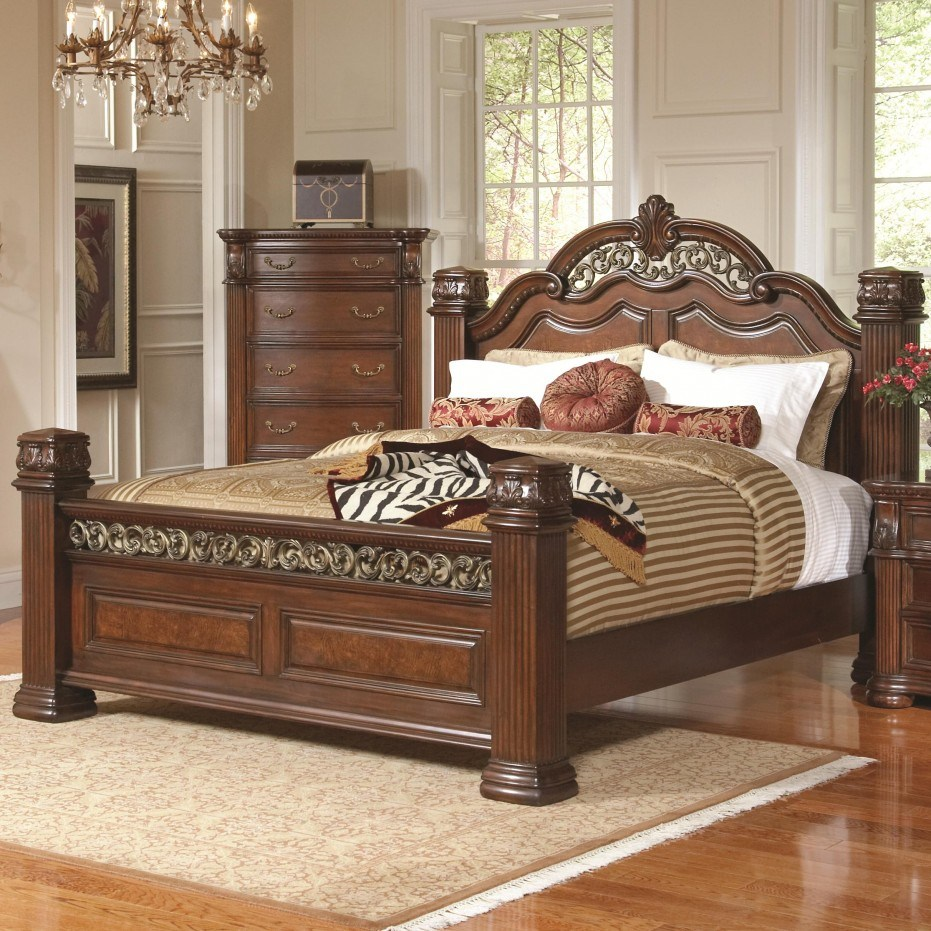 Solid Wood Bed Frame King