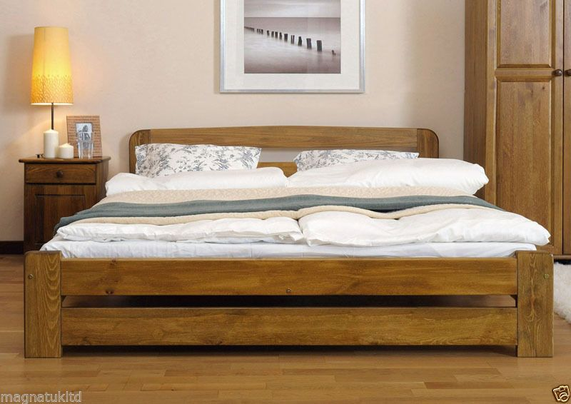 Solid Wood King Bed Frame