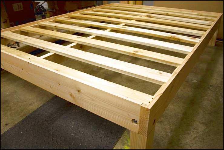 Solid Wood Platform Bed Frame Full