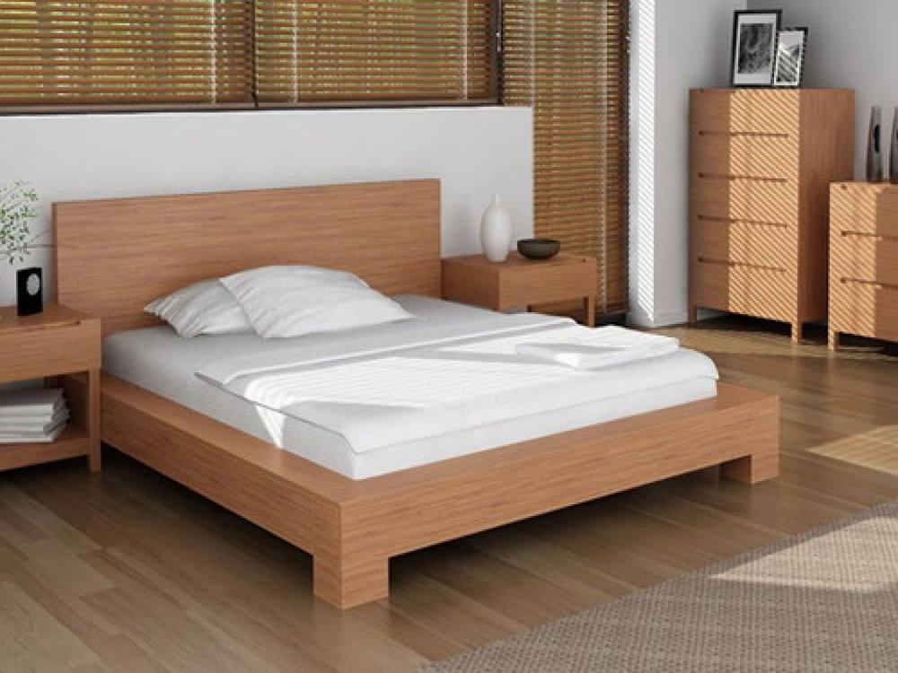 Solid Wood Queen Platform Bed Frame