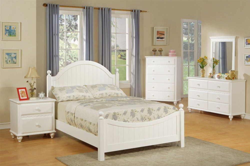 Solid Wood White Twin Bed Frame
