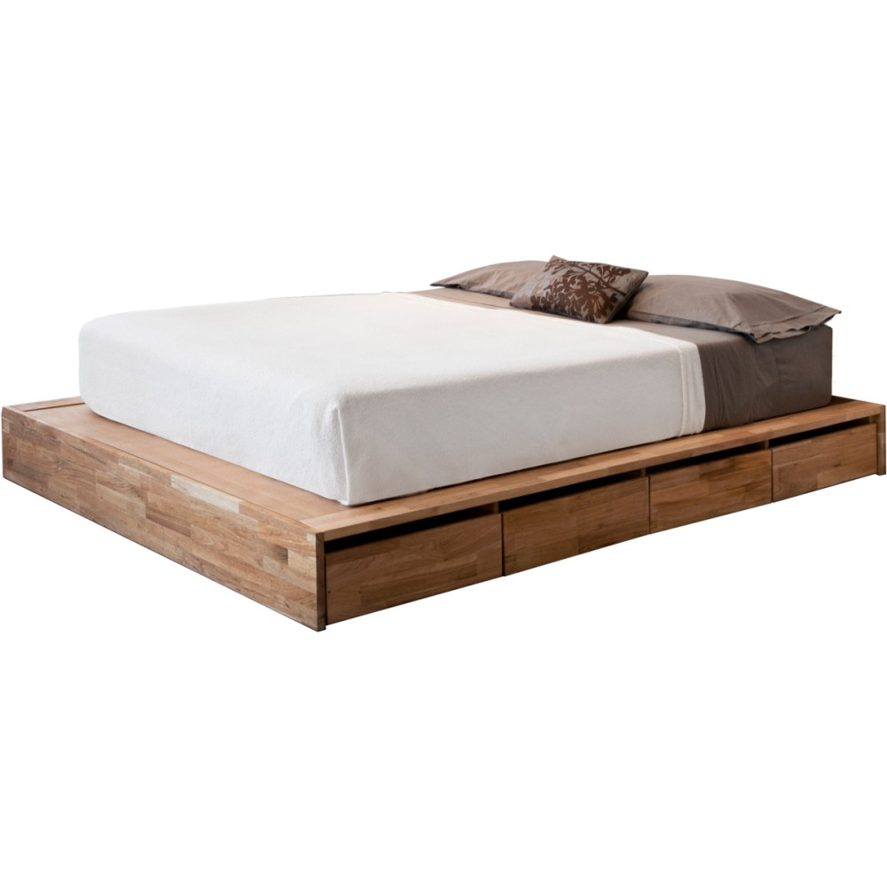 Storage Bed Frame Queen White