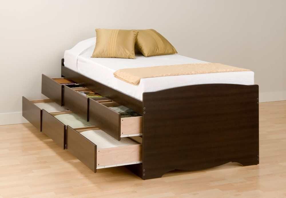 Tall Bed Frame With Storage