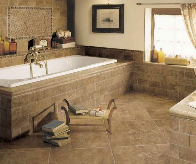 Tan Tile Bathroom Ideas