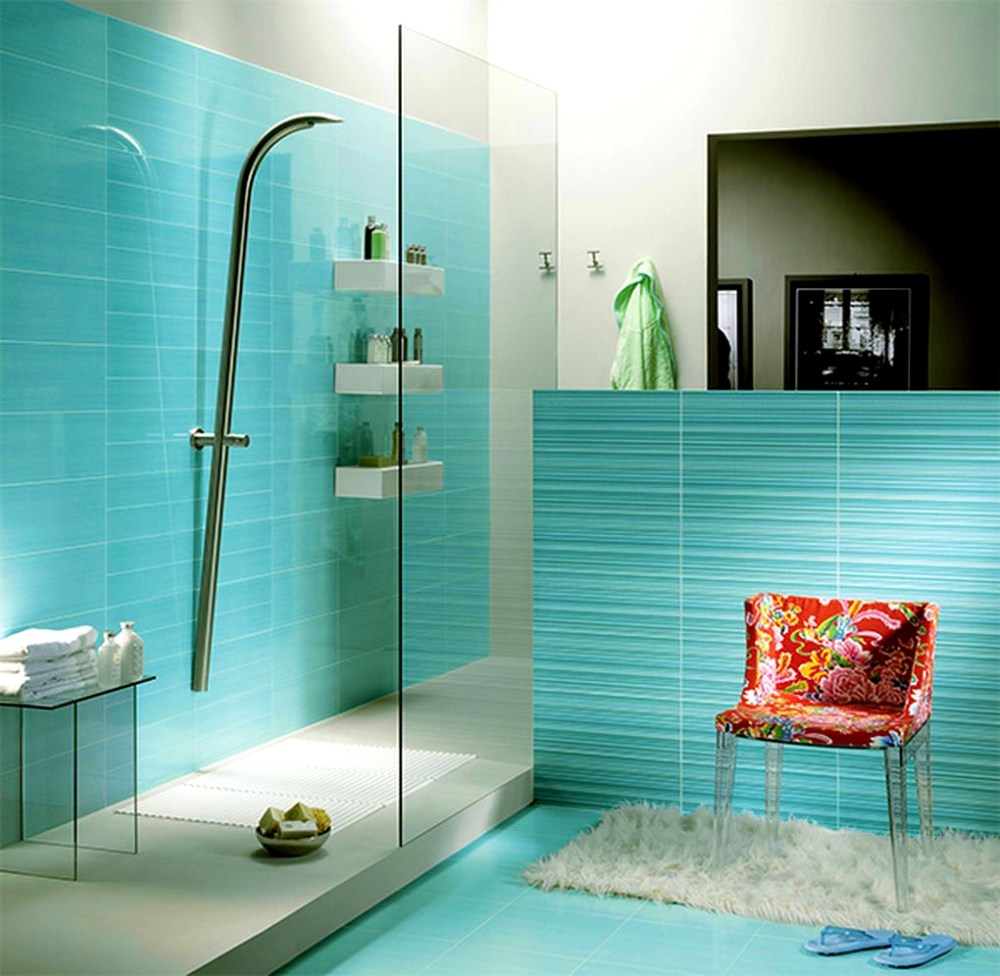 Teal Brown Bathroom Ideas