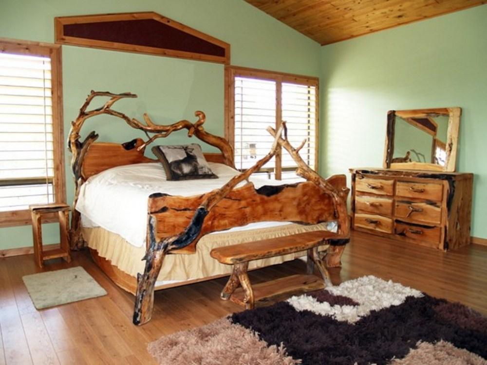 Tree Branch Bed Frame