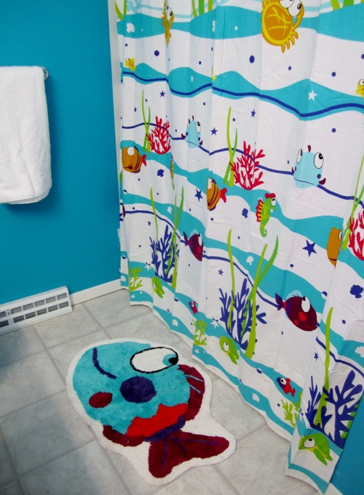 Tropical Fish Bathroom Ideas