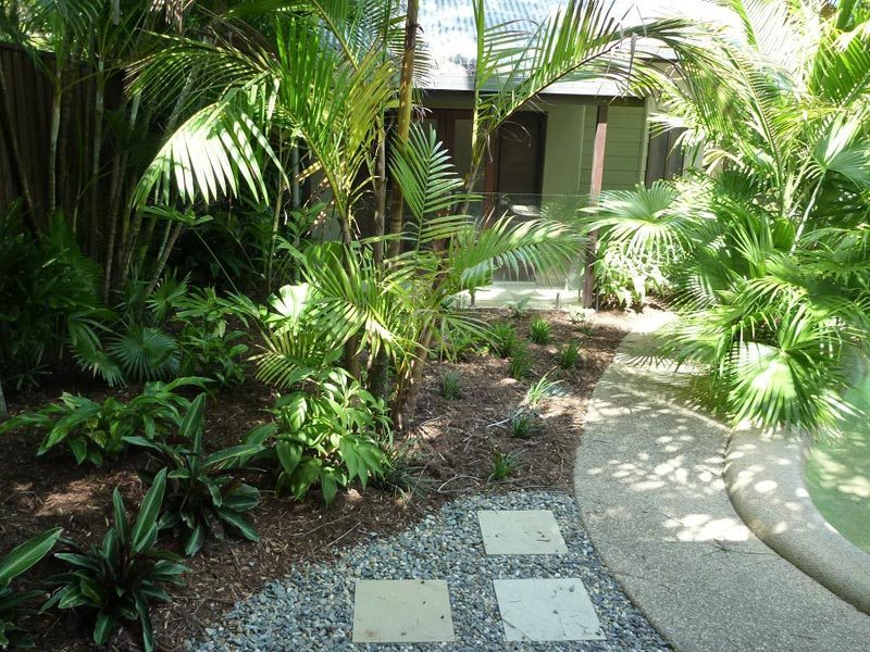 Tropical Landscape Ideas Around Pool