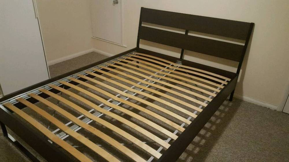 Trysil Bed Frame Dark Brown