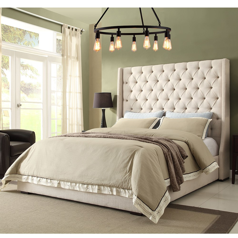 Tufted Headboard Bed King