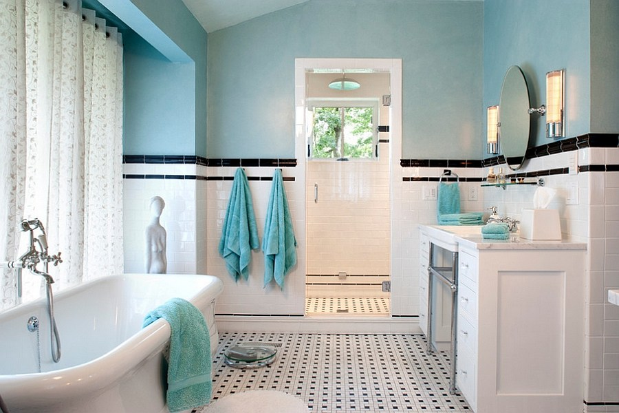 Turquoise And White Bathroom Ideas