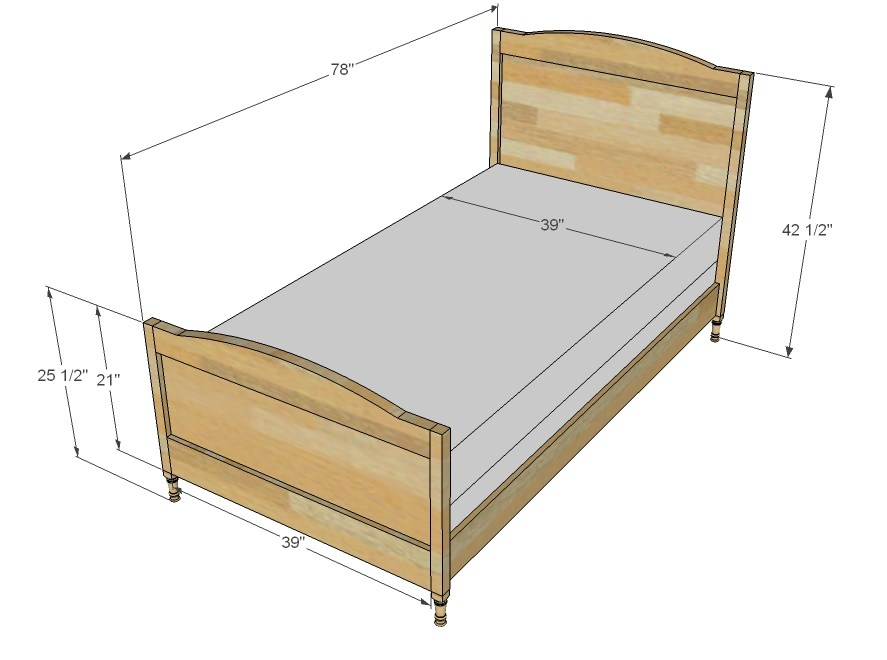 Twin Bed Frame Size