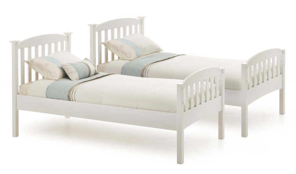 Twin Bed Frame White Wood
