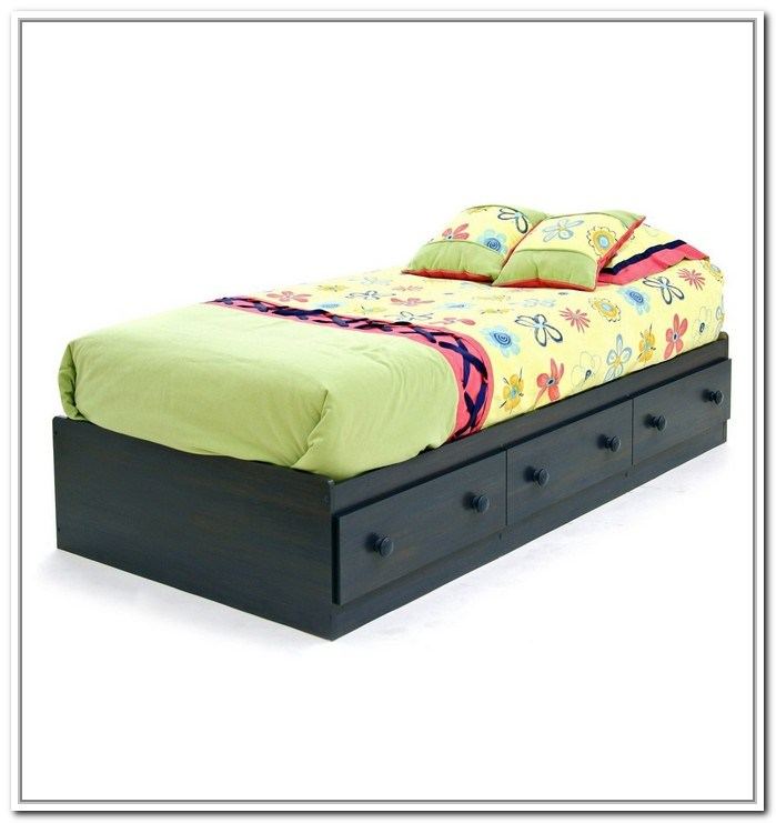 Twin Bed Frame With Drawers Under