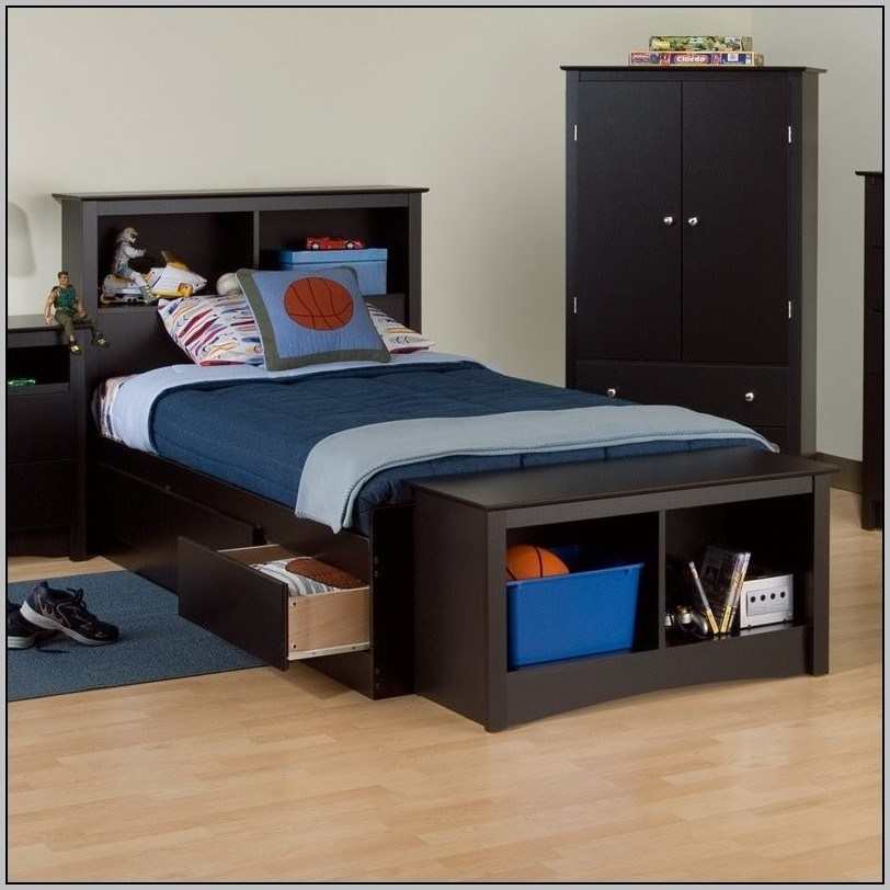 Twin Bed Frame With Storage Target