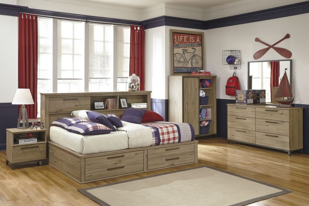Twin Bed Frame With Storage Wood