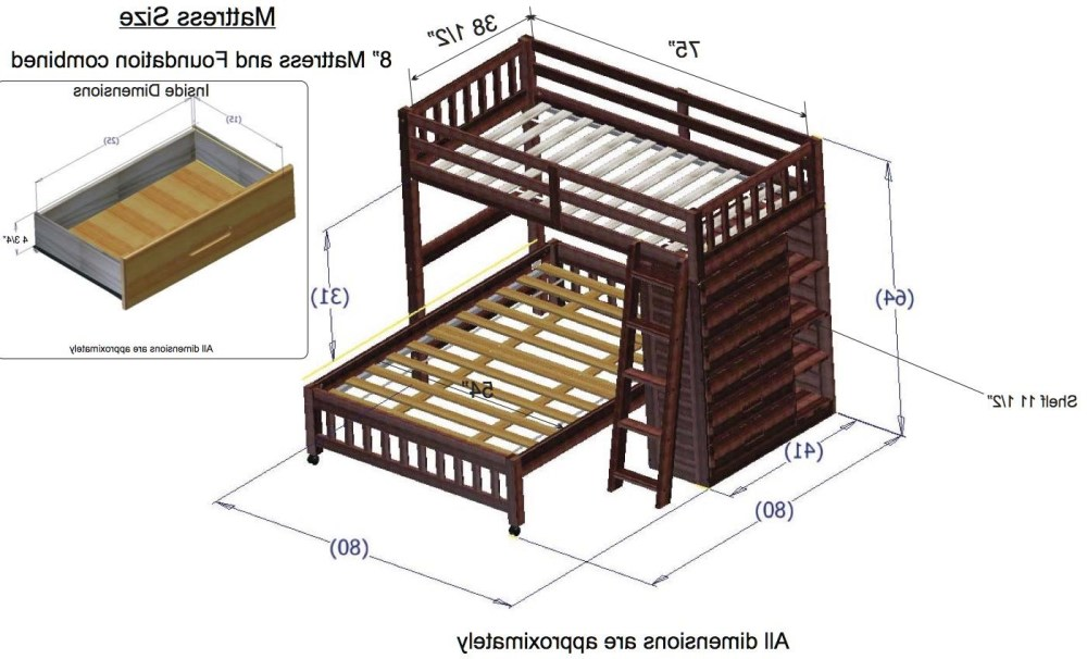 Twin Bunk Bed Frame Dimensions
