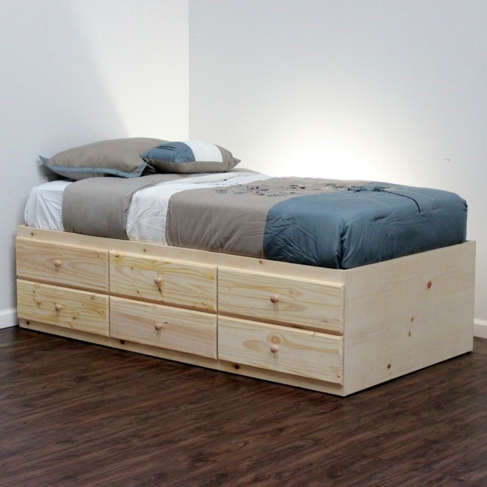 Twin Extra Long Bed Frame With Storage