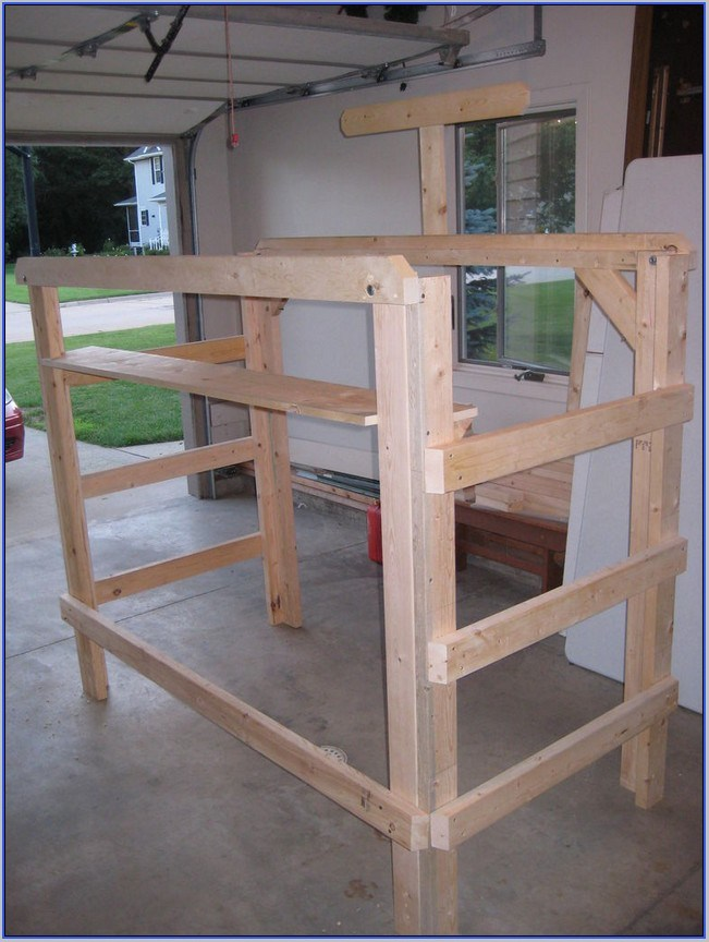 Twin Extra Long Loft Bed Frame