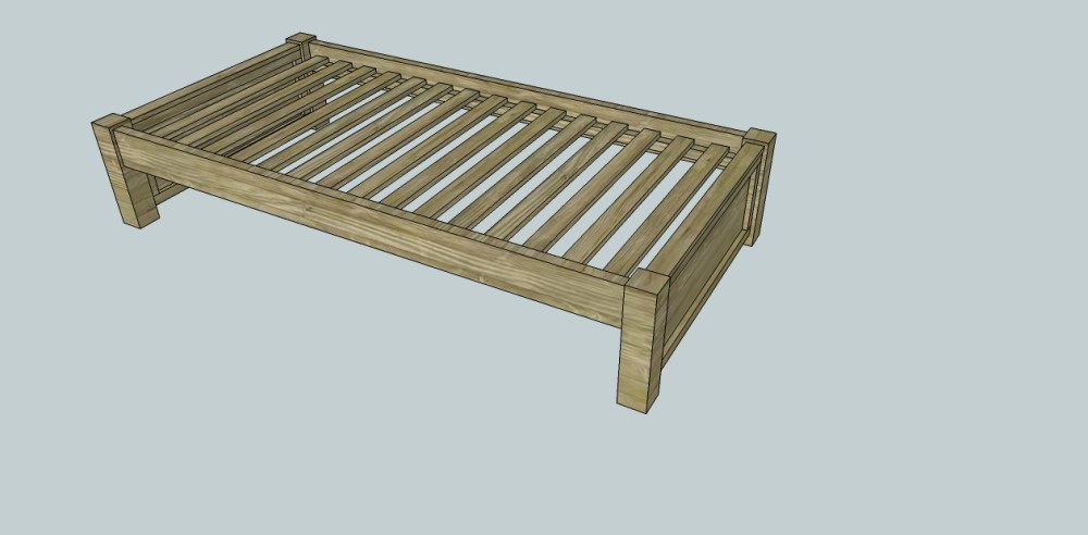 Twin Platform Bed Frame Plans