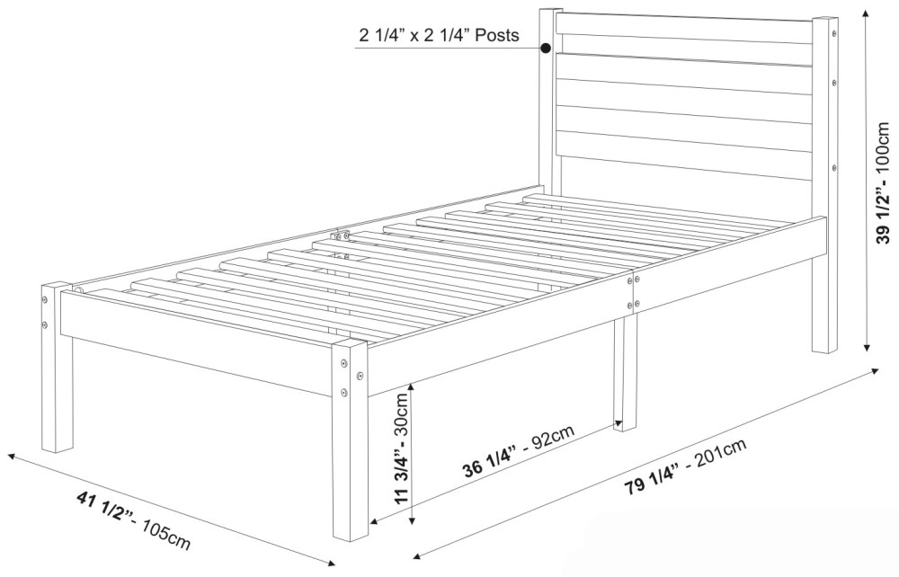 Twin Size Bed Frame Dimensions