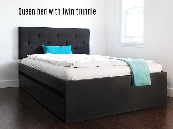 Twin Size Bed Frame With Trundle