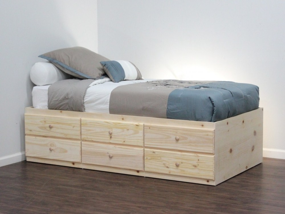 Twin Storage Bed Frame Plans