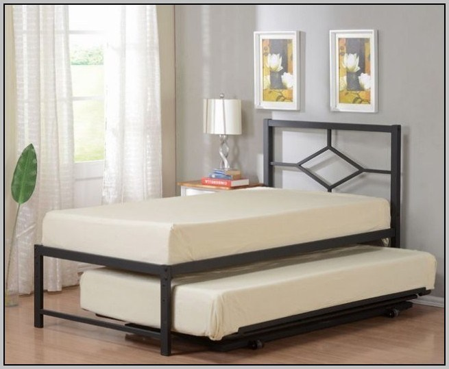 Twin Trundle Bed Frame With Pop Up