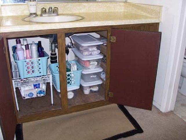 Under Bathroom Sink Storage Ideas