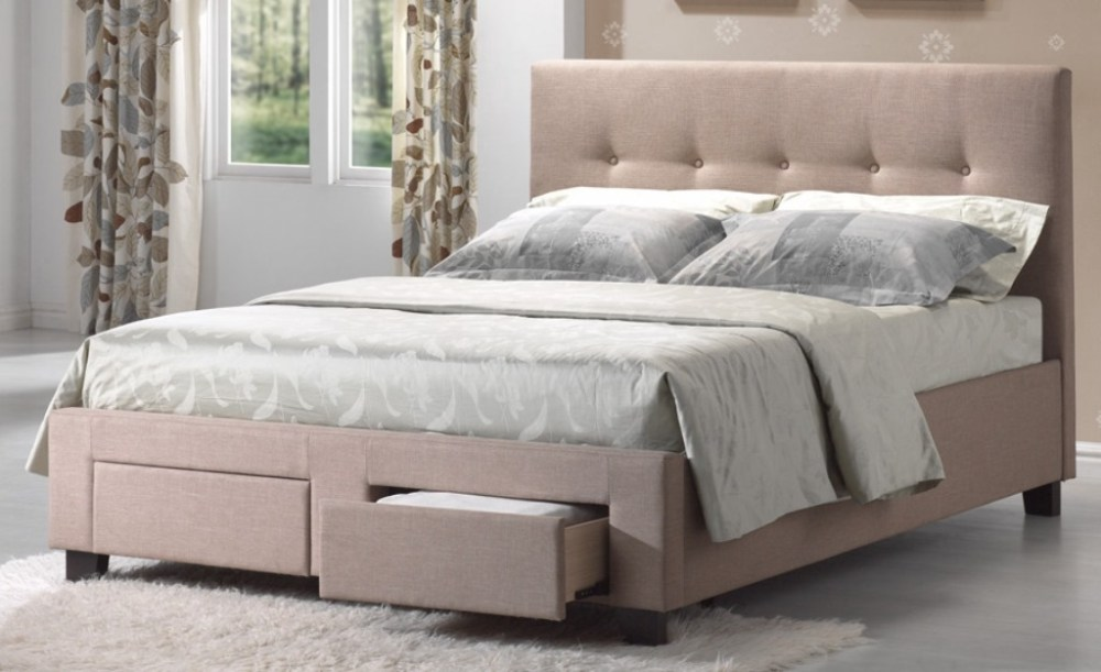Upholstered Bed Frame With Storage