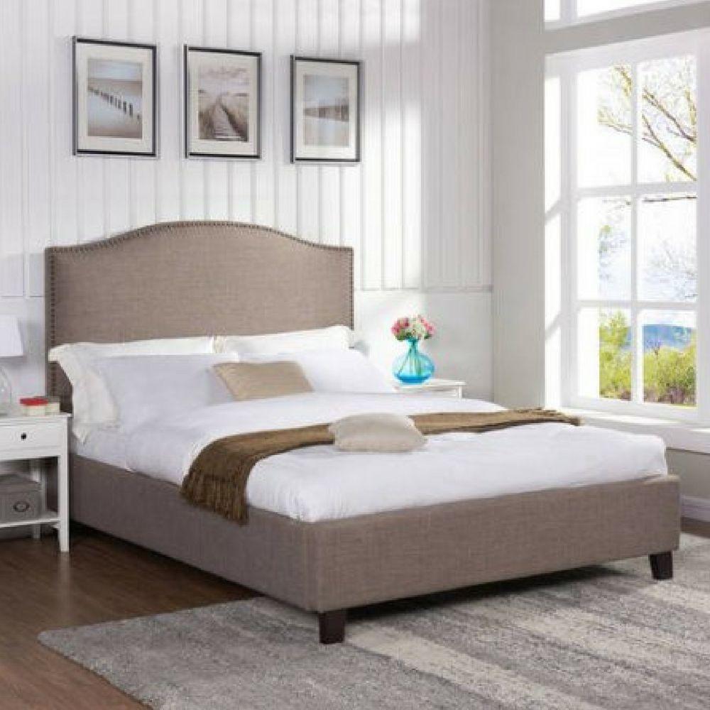 Upholstered Cal King Bed Frame