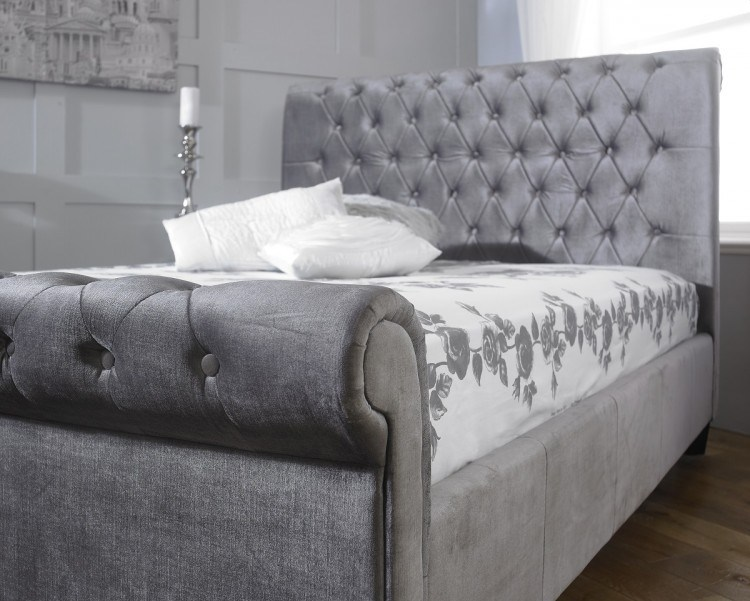 Velvet Bed Frame Double