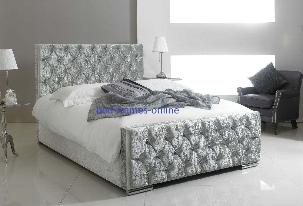Velvet Bed Frame Single