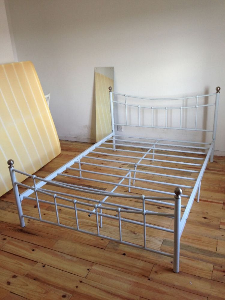 Vintage Metal Bed Frame Double