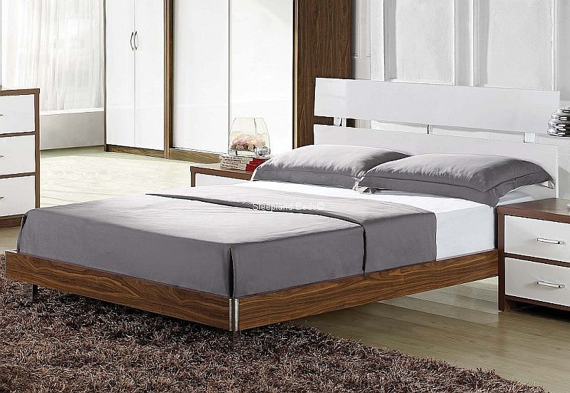 Walnut Bed Frame Double