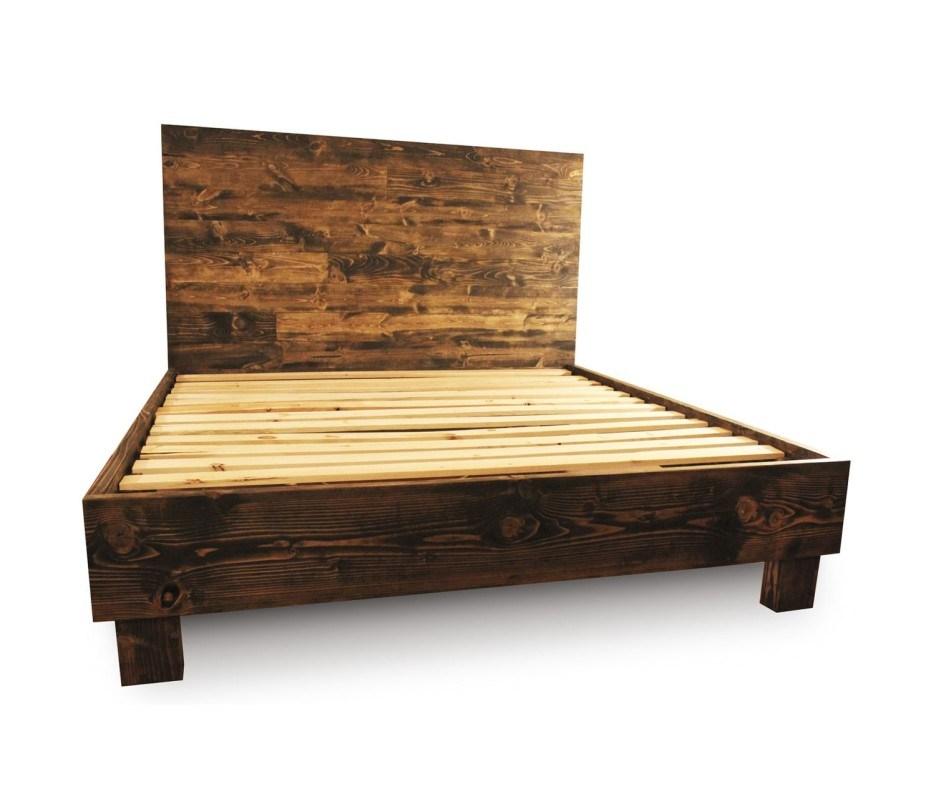 Walnut Bed Frame Queen