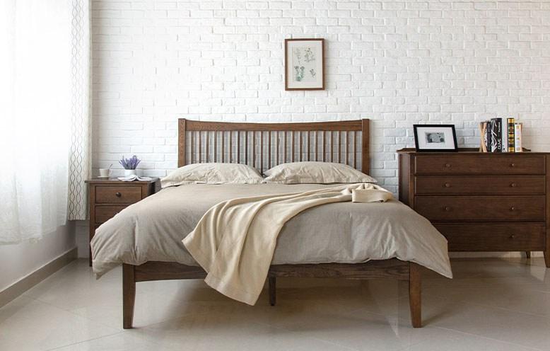 Walnut Bed Frame Singapore