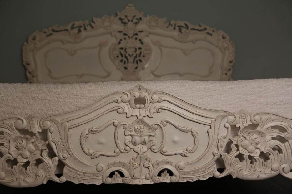 White Baroque Bed Frame